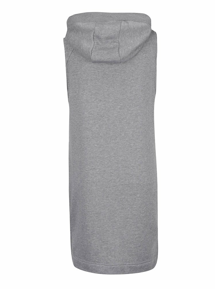 Šedá dámská dlouhá vesta na zip Nike Sportswear