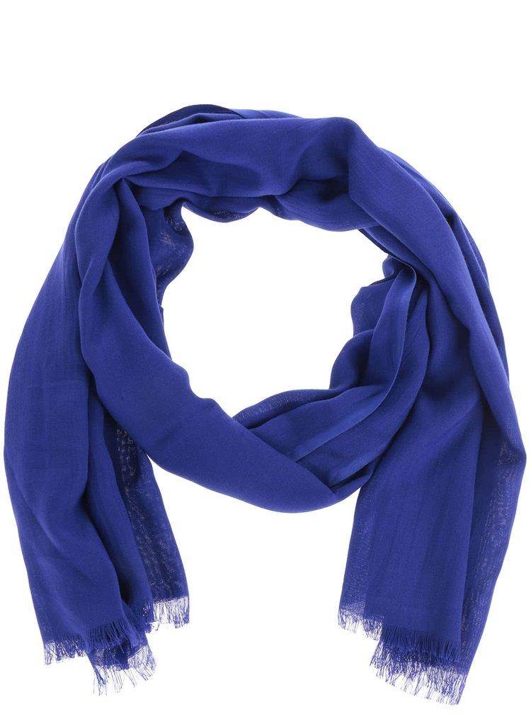 Eșarfă albastră Dorothy Perkins cu franjuri discreți
