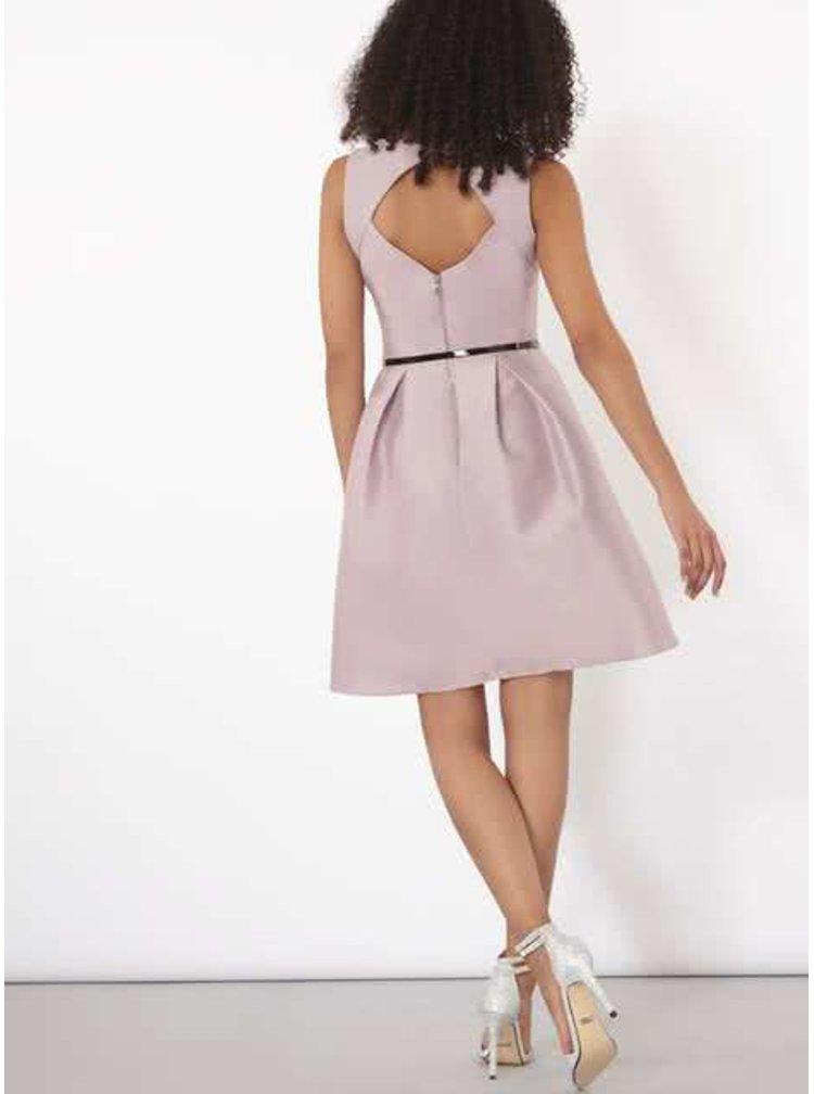 Světle fialové šaty s páskem Dorothy Perkins