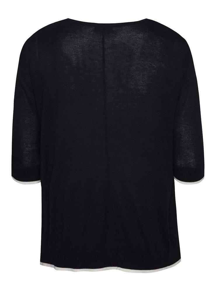 Tmavě modrý dámský svetr s 3/4 rukávem M&Co