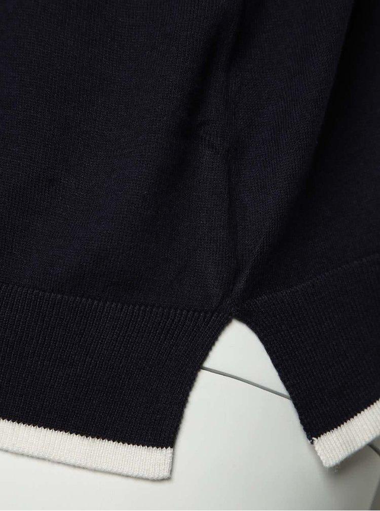 Pulover subțire bleumarin M&Co cu mâneci 3/4