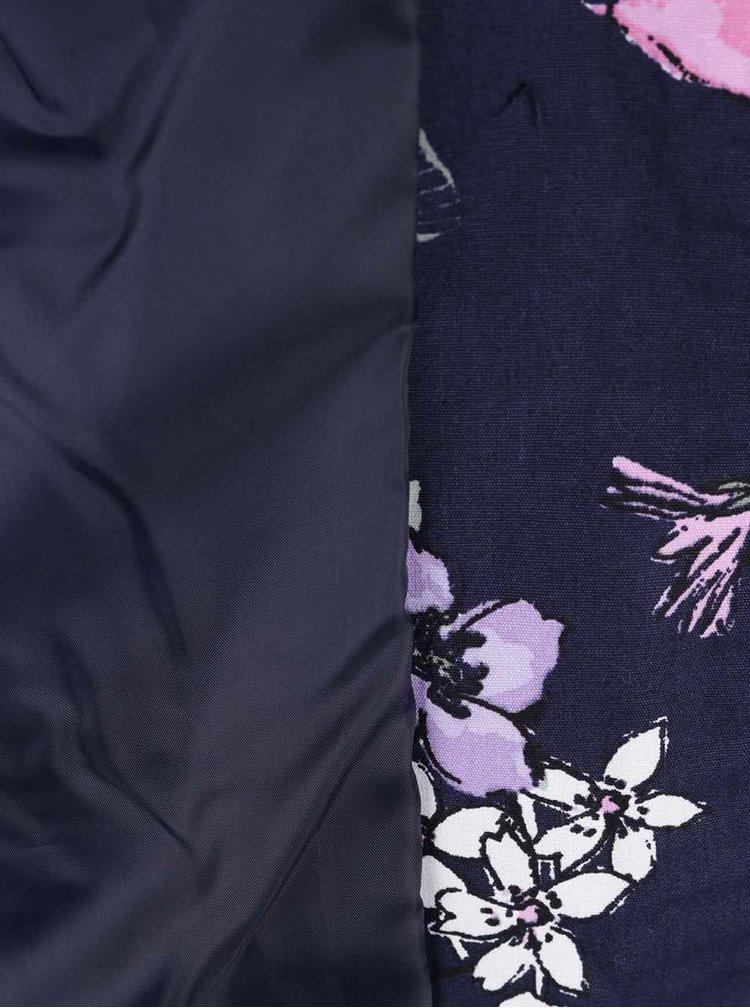 Geaca subtire bleumarin M&Co cu gluga si model floral