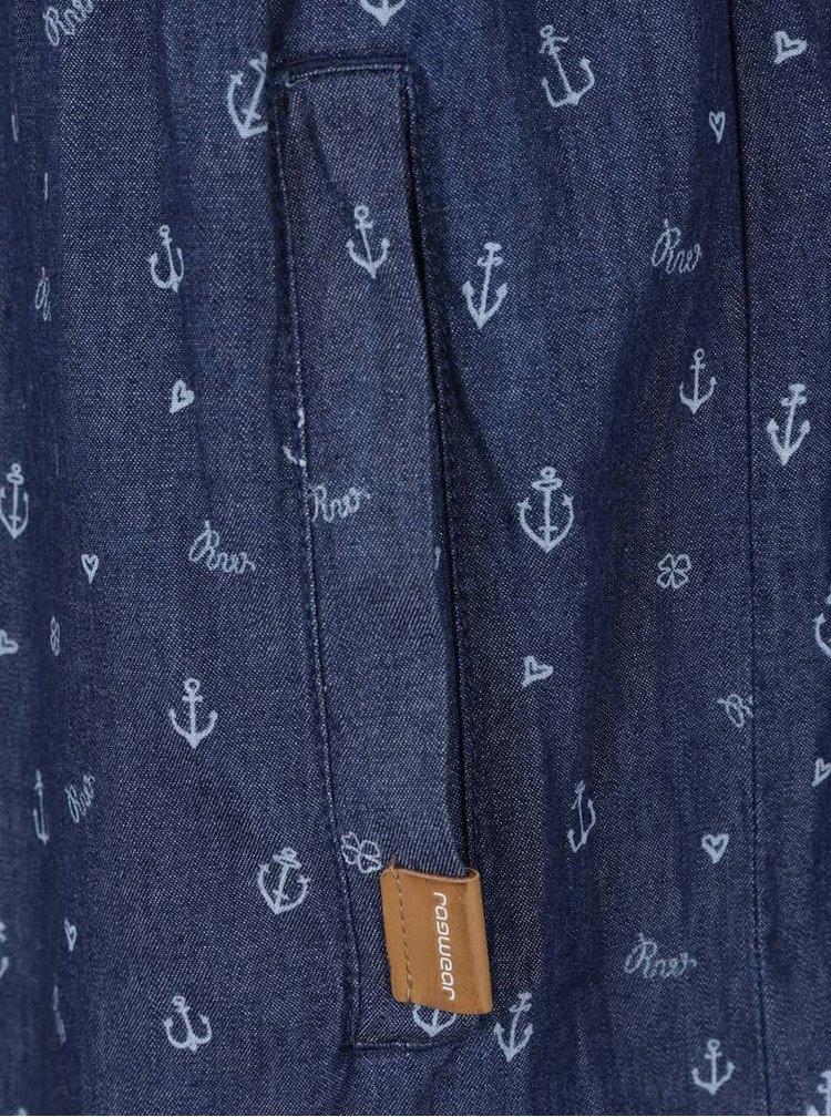 Rochie albastru inchis Ragwear Geena regular fit din bumbac cu model
