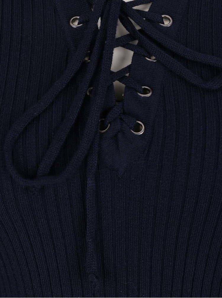Tmavě modrý lehký dámský svetr M&Co