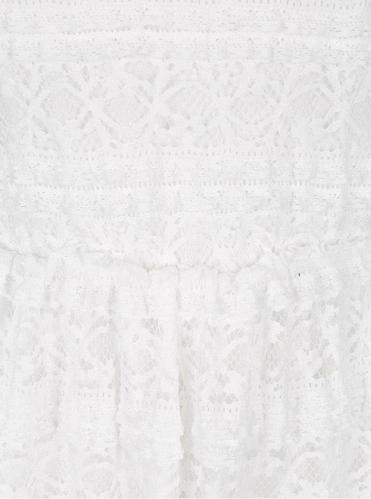 Rochie alb fildes VILA Kania din dantela