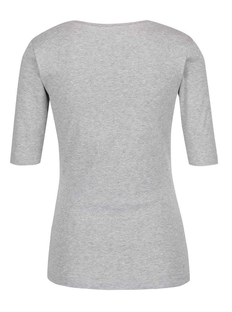 Bluză gri M&Co cu croi mulat şi decolteu pătrat