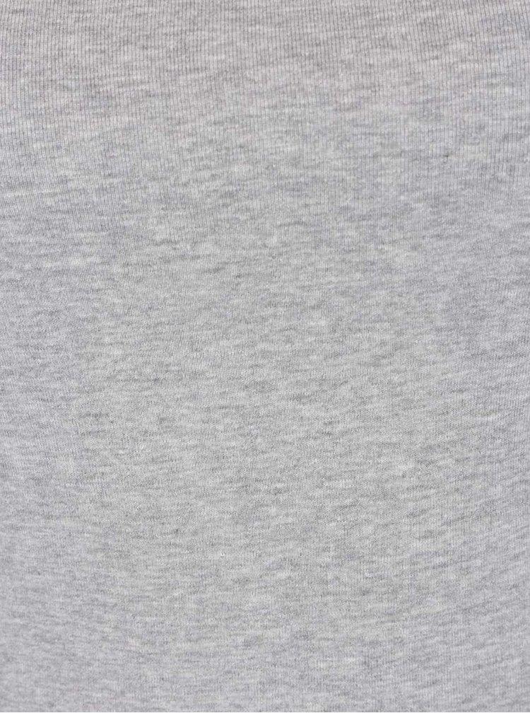 Světle šedé dámské tričko s hranatým výstřihem M&Co