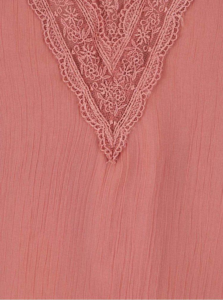 Starorůžový top s krajkovými detaily VILA Rolina