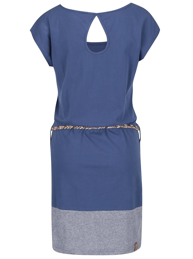 Modré šaty s páskem Ragwear Soho