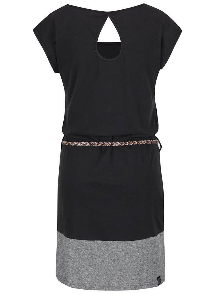 Černé šaty s páskem Ragwear Soho