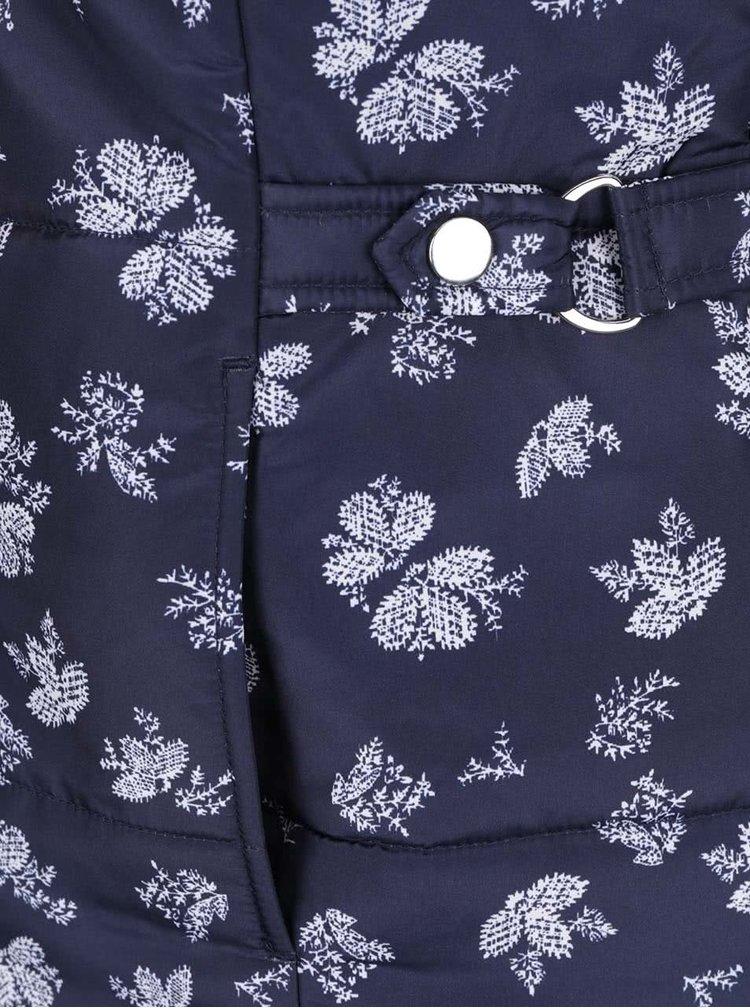 Vestă matlasată bleumarin  M&Co cu model floral