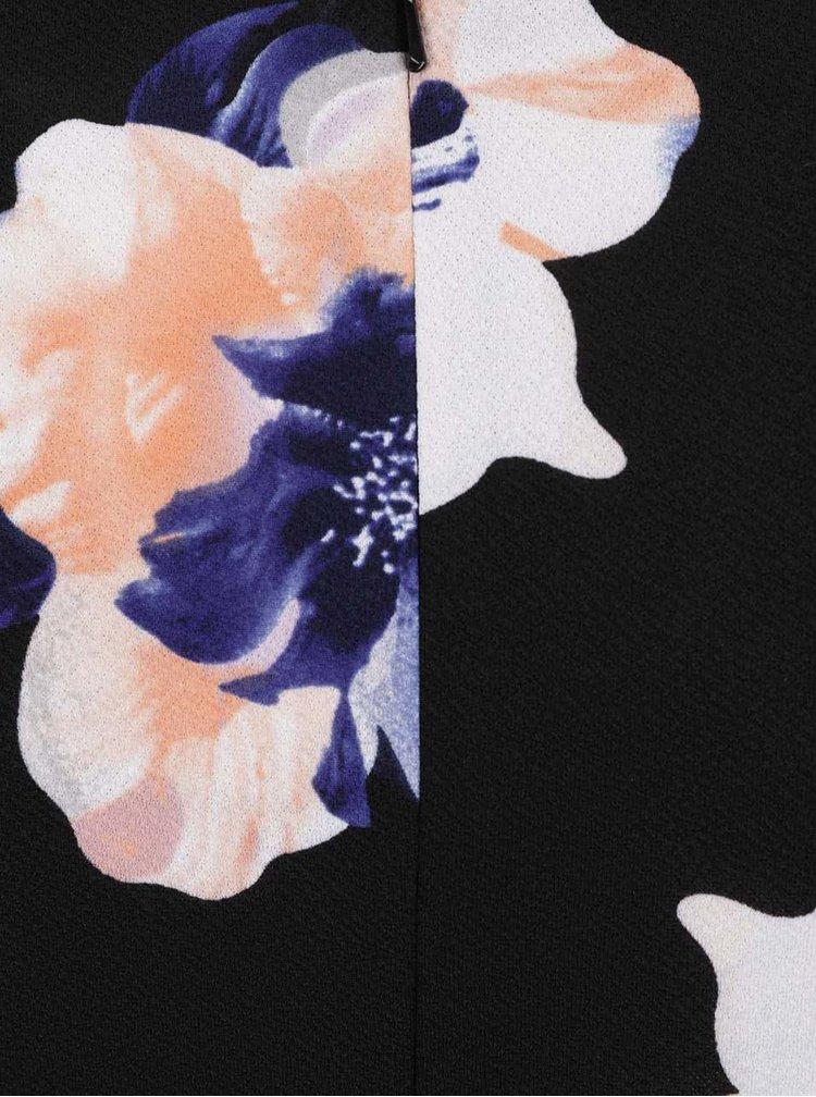 Rochie neagră 3/4 M&Co cu model floral