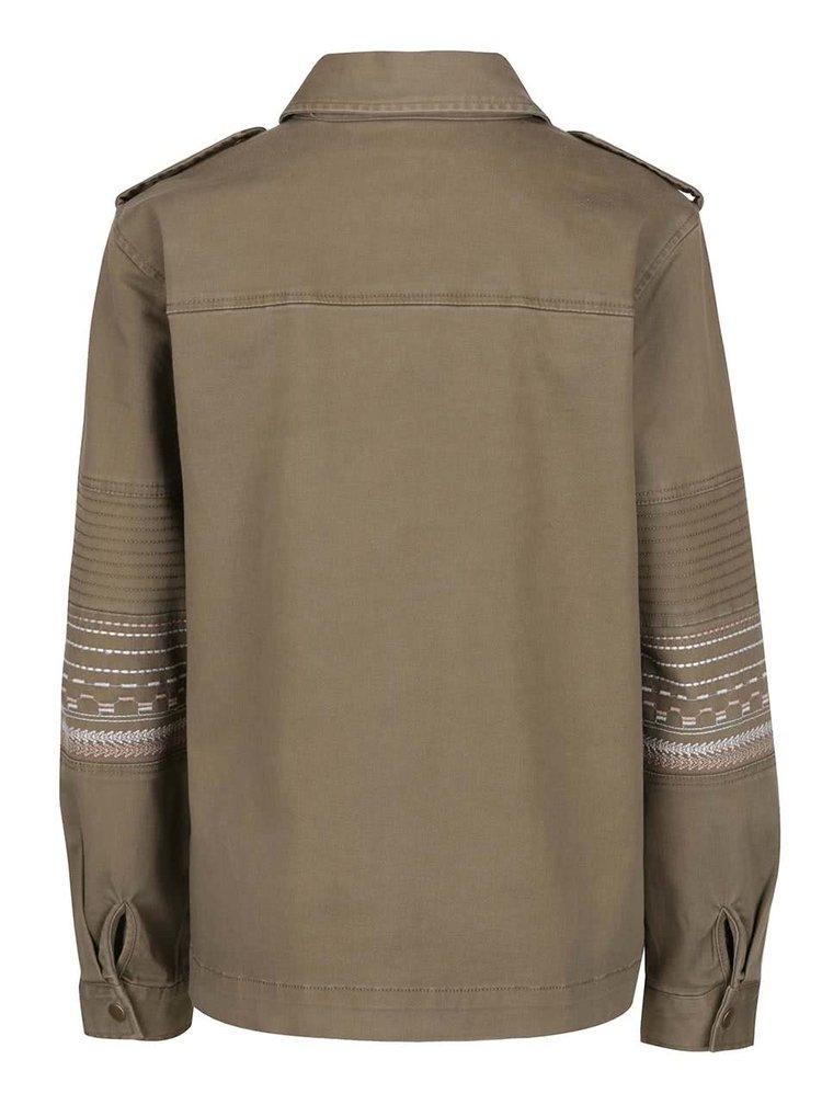 Jachetă subțire kaki VILA Abell din denim