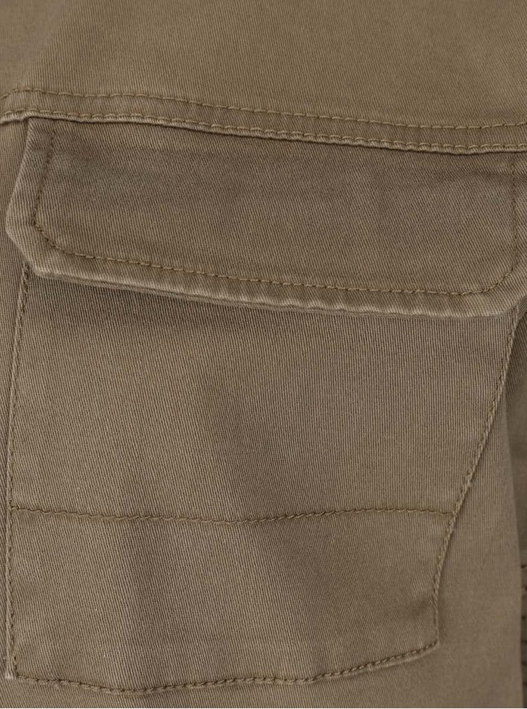 Kaki bunda s detailmi na rukávoch VILA Abell
