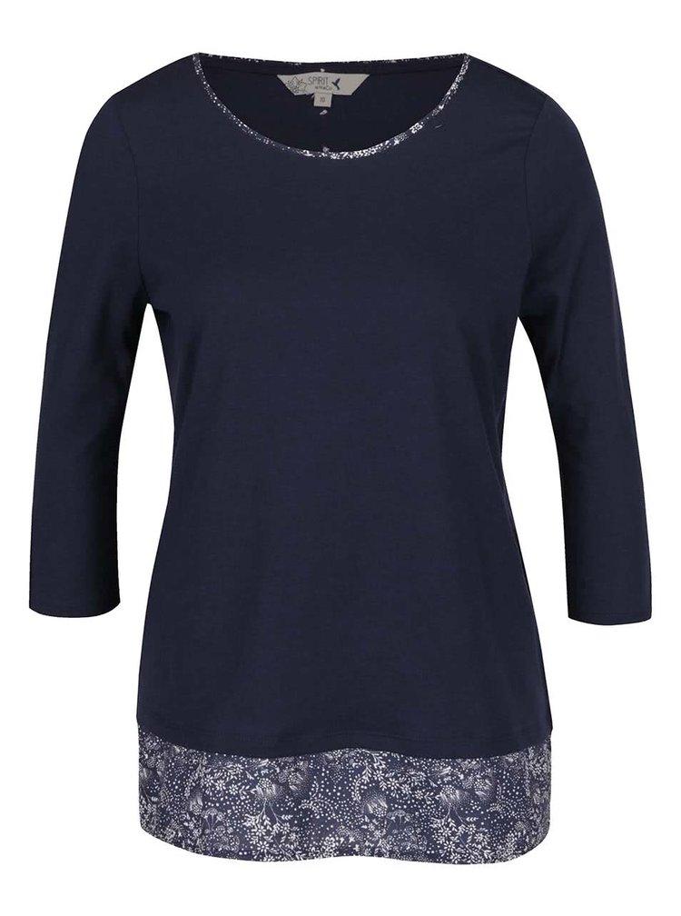 Bluza bleumarin M&Co cu croi lejer si maneci trei sferturi