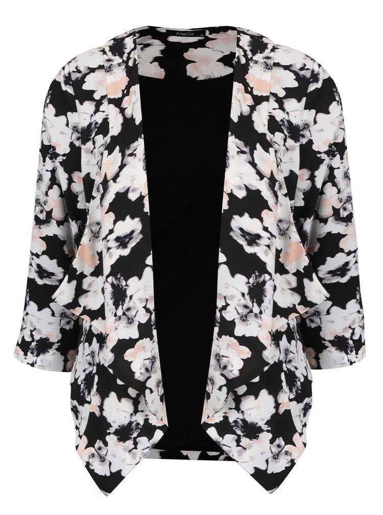 Černý dámský květovaný blejzr M&Co