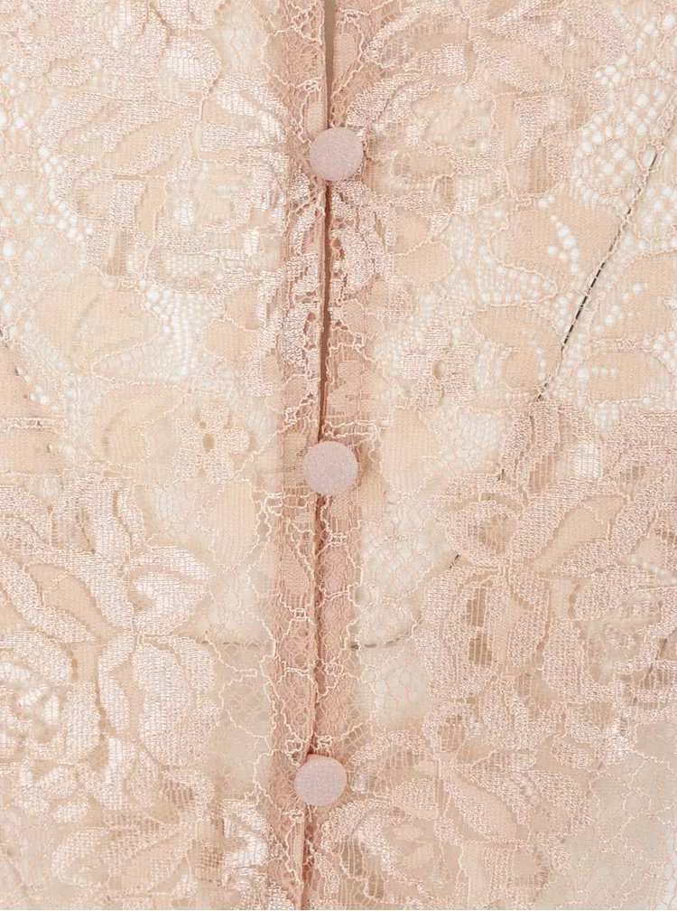 Neglijeu roz Y.A.S Chiffon cu detalii din dantelă și croi lejer