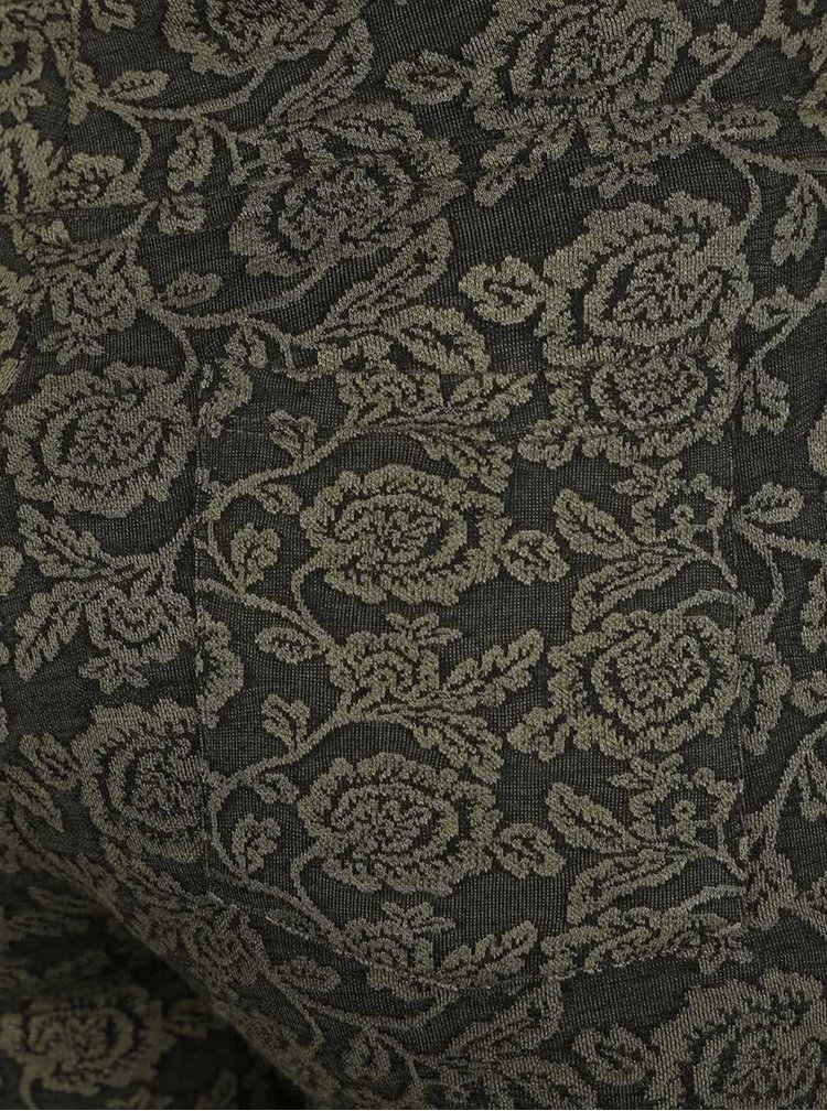 Colanți kaki M&Co cu model floral