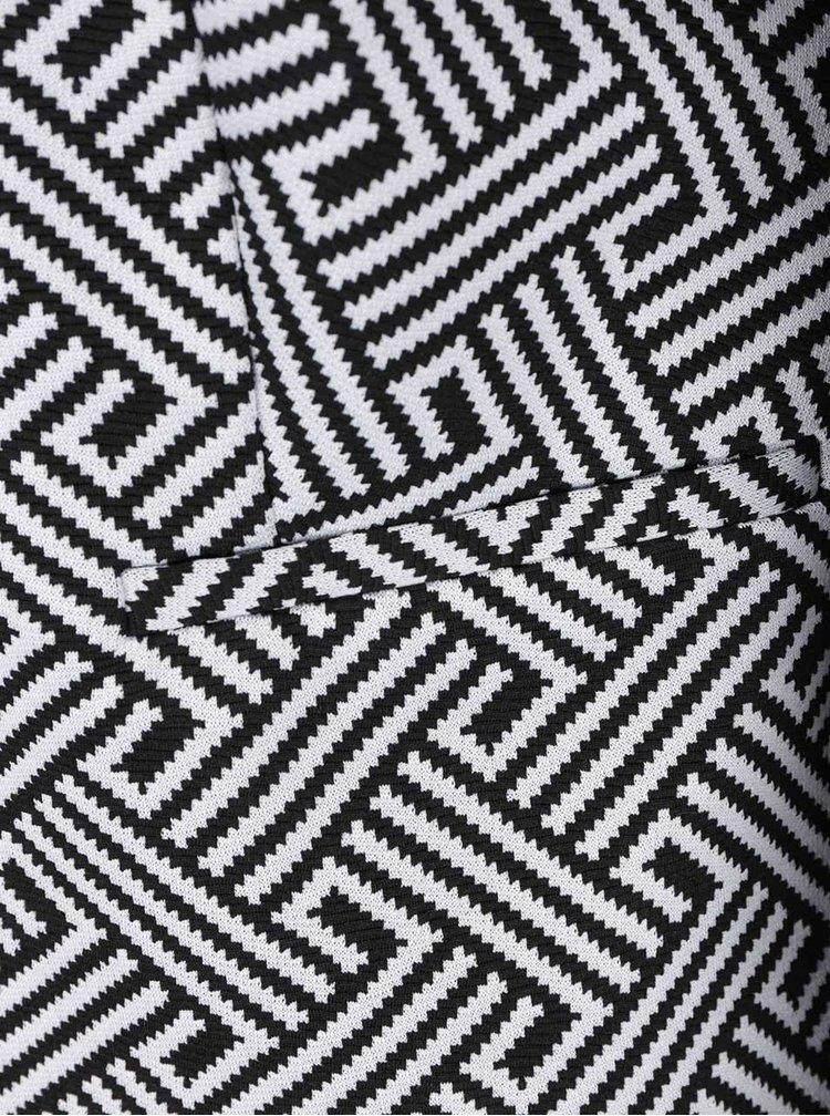 Černo-bílé dámské vzorované sako M&Co