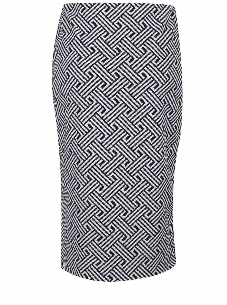 Černo-bílá vzorovaná sukně M&Co