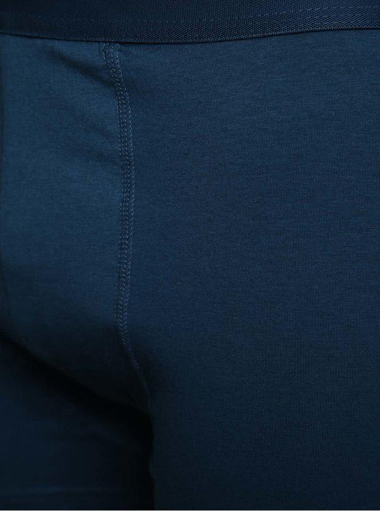 Sada tří boxerek v modré a tyrkysové barvě M&Co