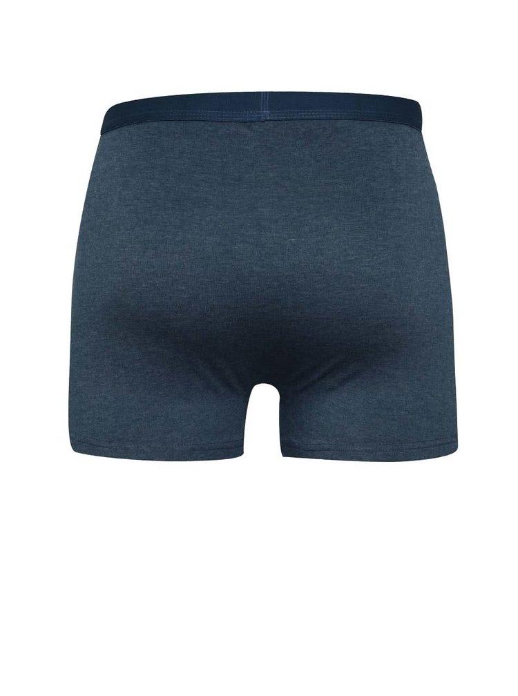 Sada tří  boxerek v modré a šedé barvě M&Co