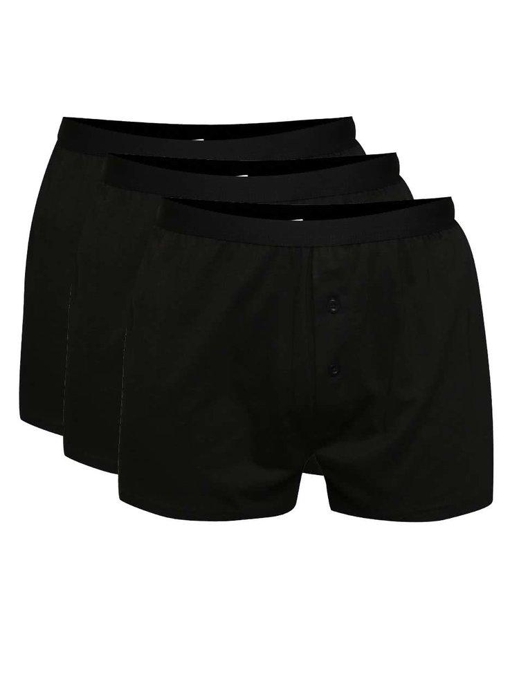 Sada tří boxerek v černé barvě M&Co