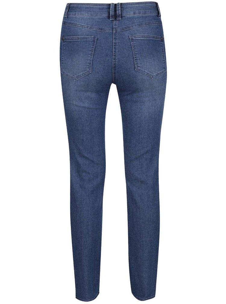 Modré dámské džíny s vysokým pasem M&Co