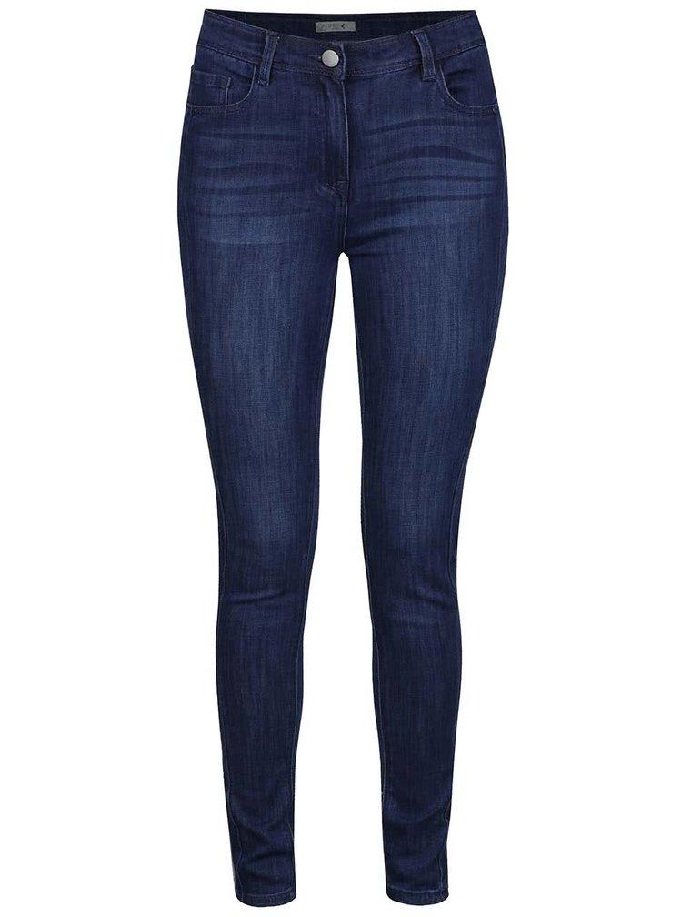 Blugi albastri M&Co super slim cu aspect prespalat