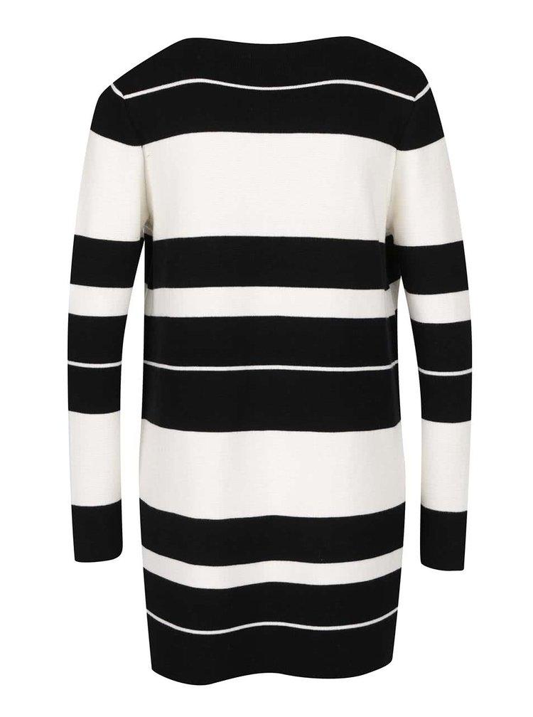 Cardigan negru & crem M&Co din bumbac cu model în dungi