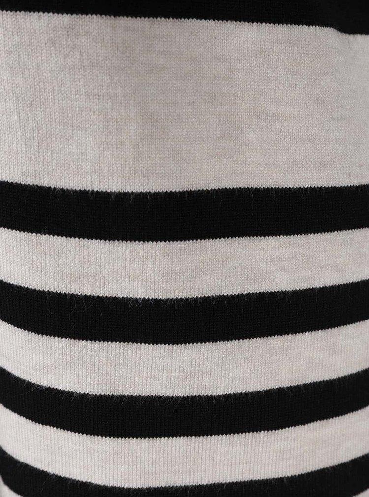 Cardigan alb&negru M&Co cu model in dungi si guler sal