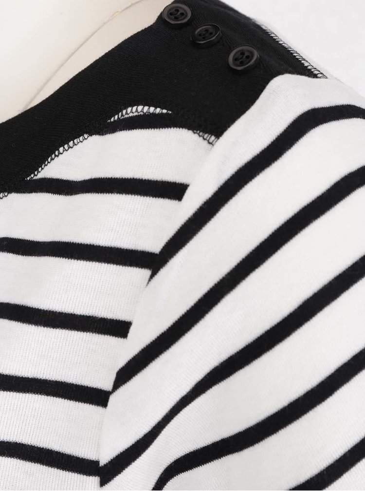 Tricou negru cu alb M&Co în dungi