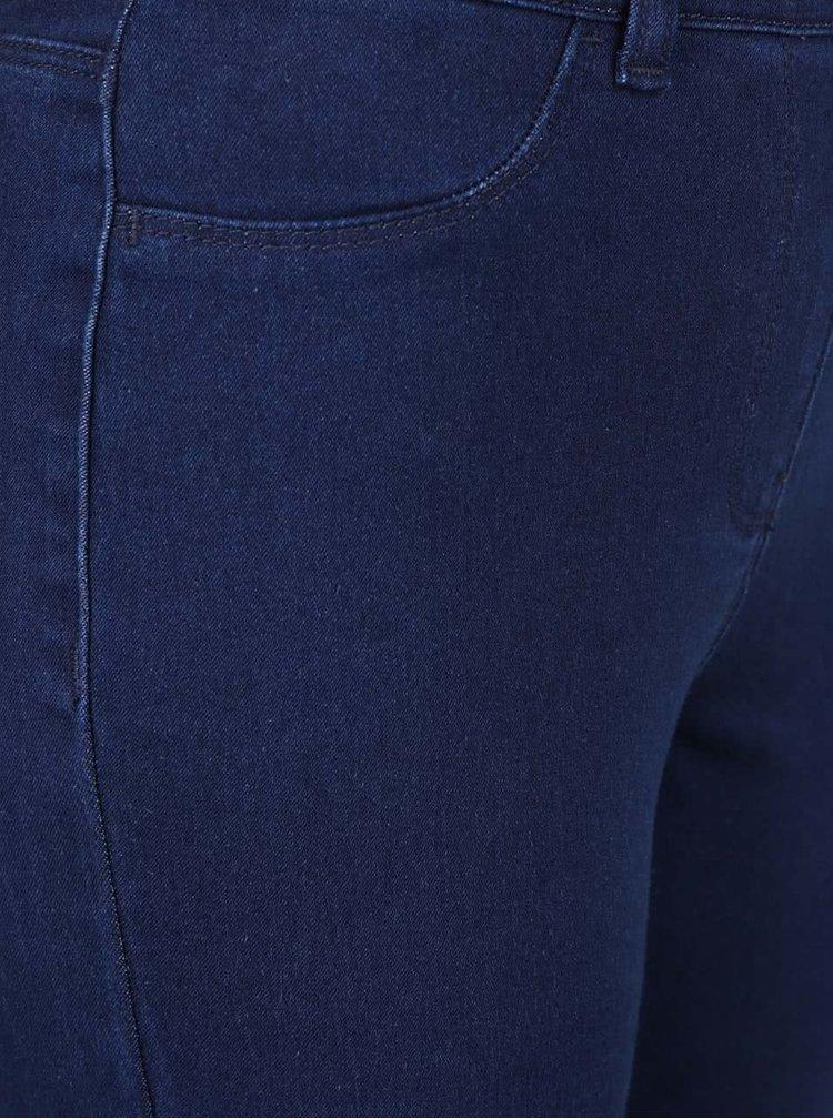 Pantaloni skinny albaștri M&Co cu aspect de denim