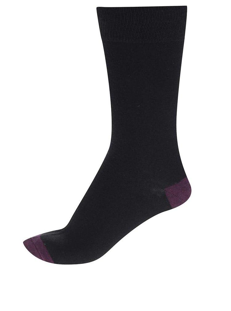 Sada sedmi párů pánských ponožek v černé barvě s barevnými detaily M&Co