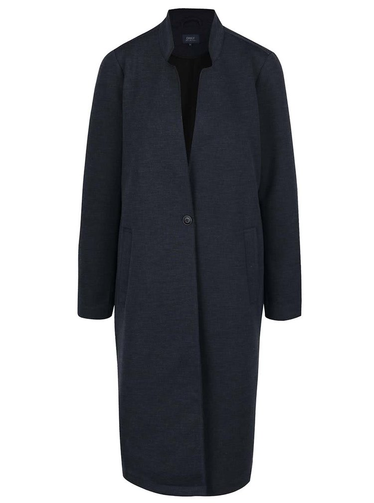 Palton subțire bleumarin ONLY Sue cu guler cu decupaje