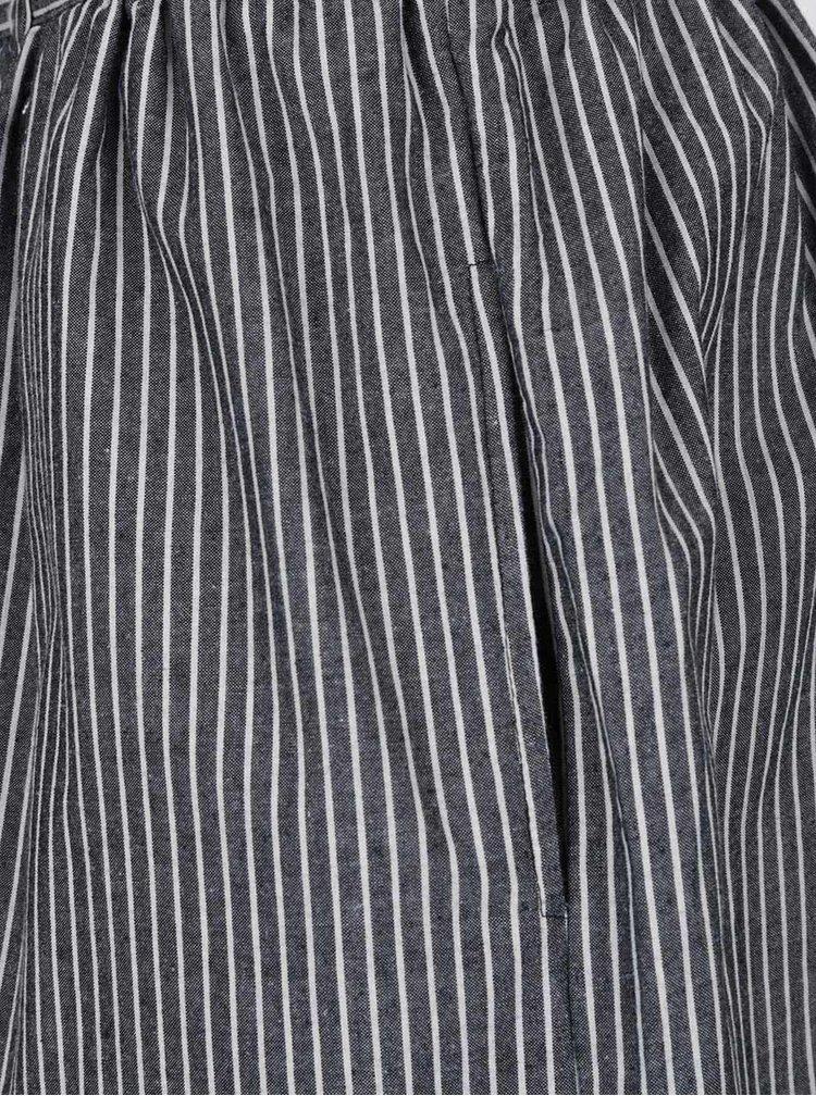 Fustă gri Ragwear Vendy cu model în dungi