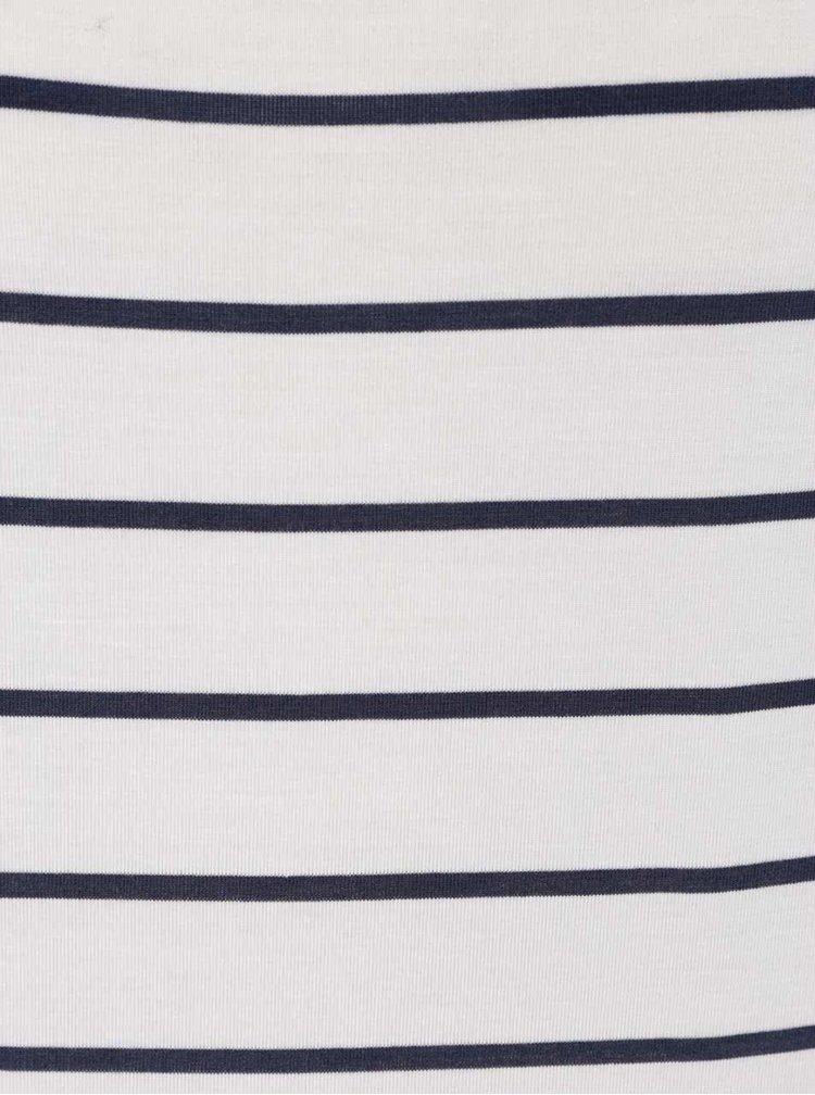Krémové pruhované tričko VERO MODA Charly