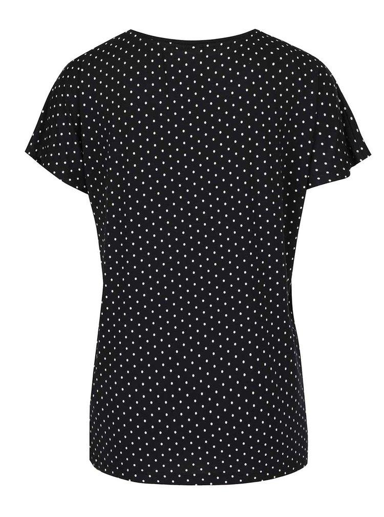 Černé puntíkované tričko VERO MODA Charly