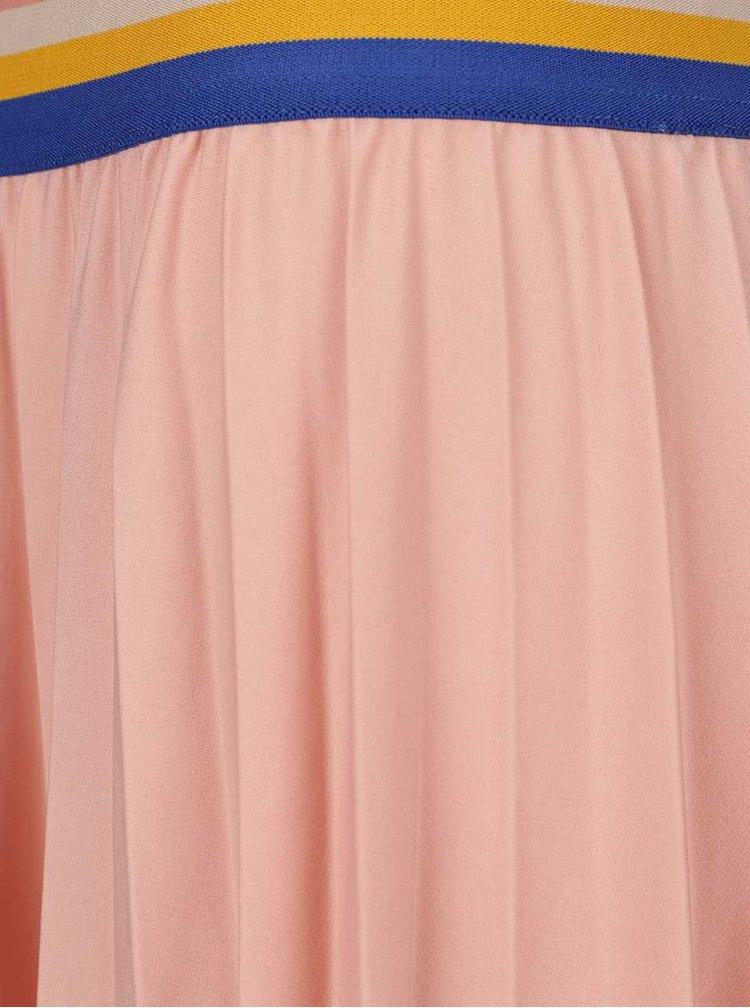 Fustă plisată roz pal Noisy May Bob