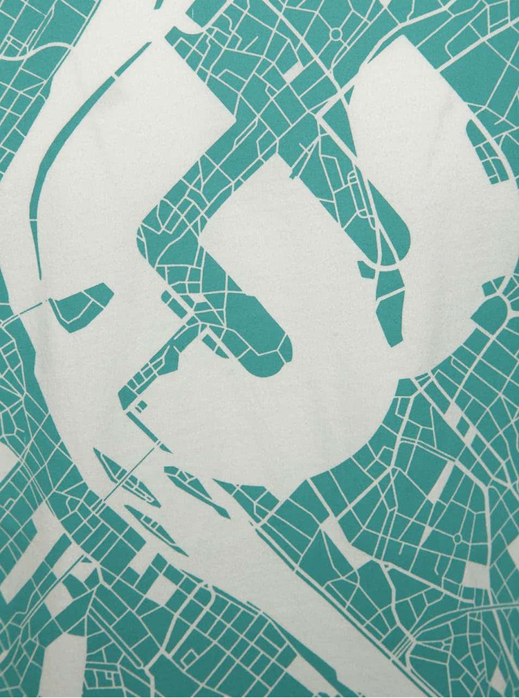 Bílé pánské triko Ragwear Paddy Map