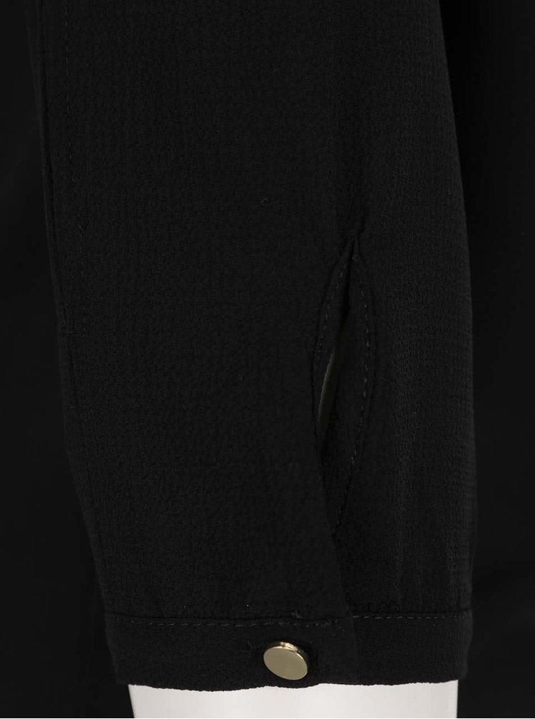 Bluză neagră VERO MODA Zen cu decupaje pe mâneci