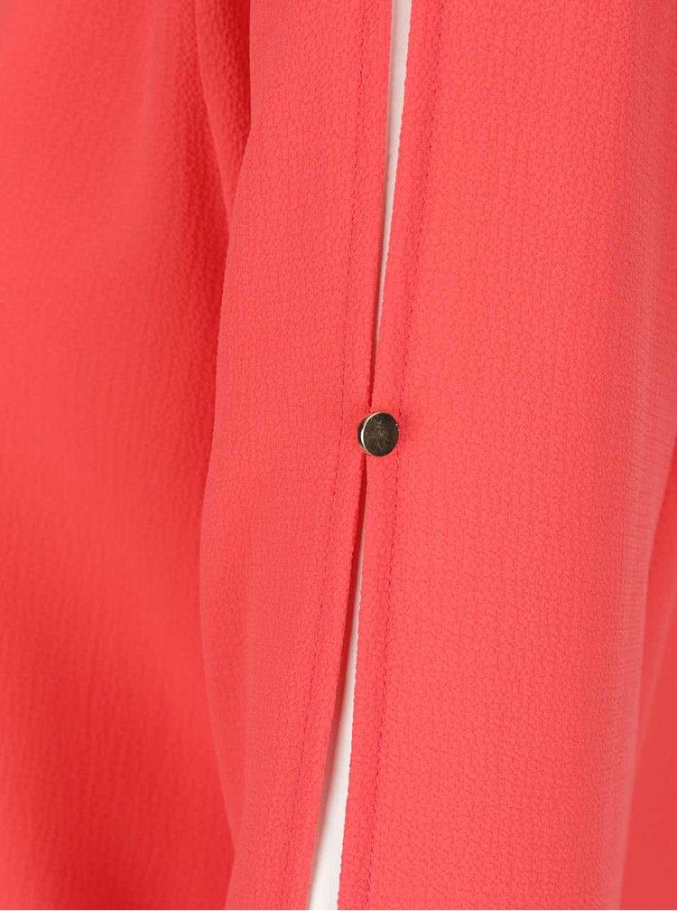 Červená halenka s dlouhým rukávem VERO MODA Zen