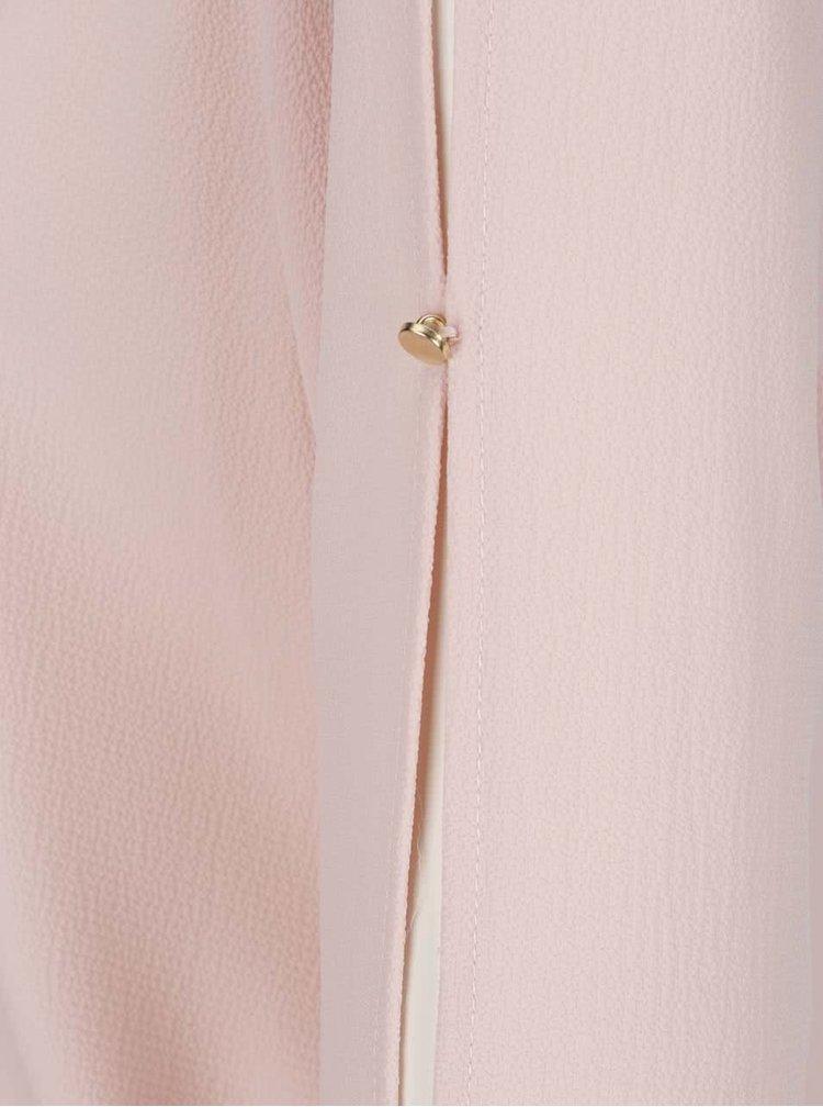 Bluză roz pal VERO MODA Zen cu decupaje pe mâneci