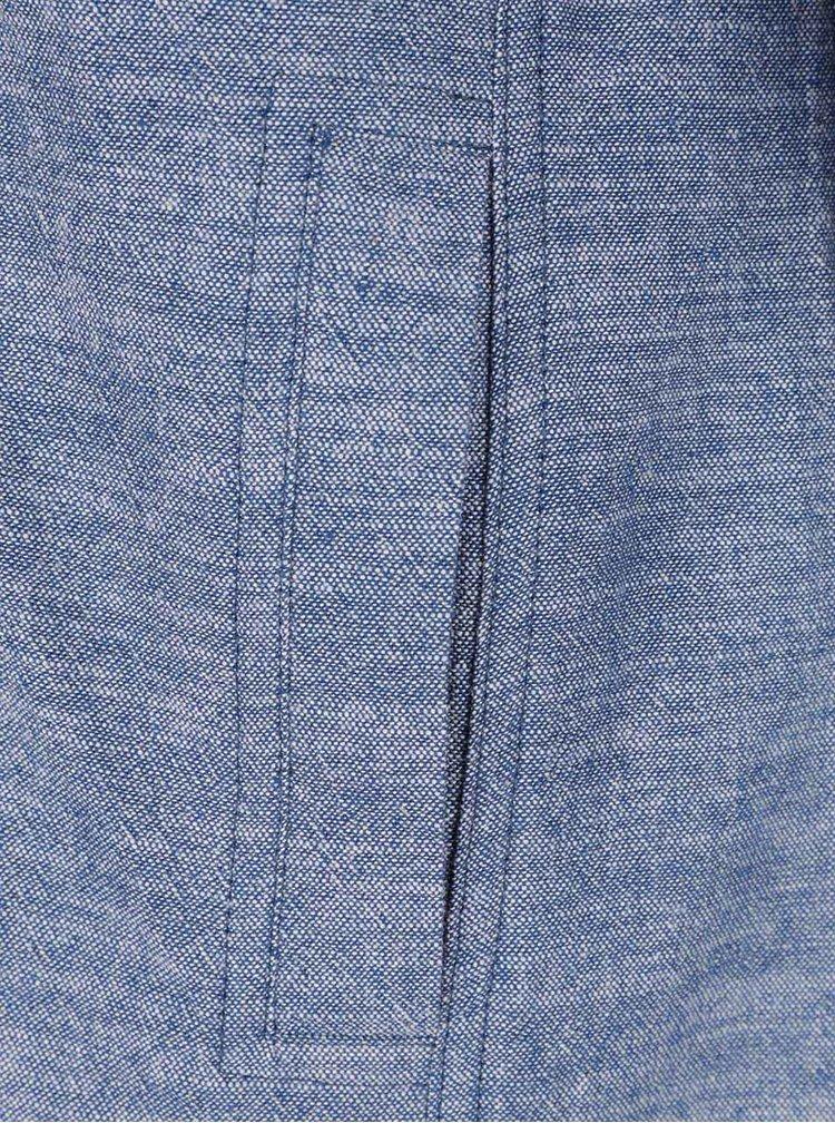 Jacheta albastra Ragwear Roxana din bumbac cu gluga