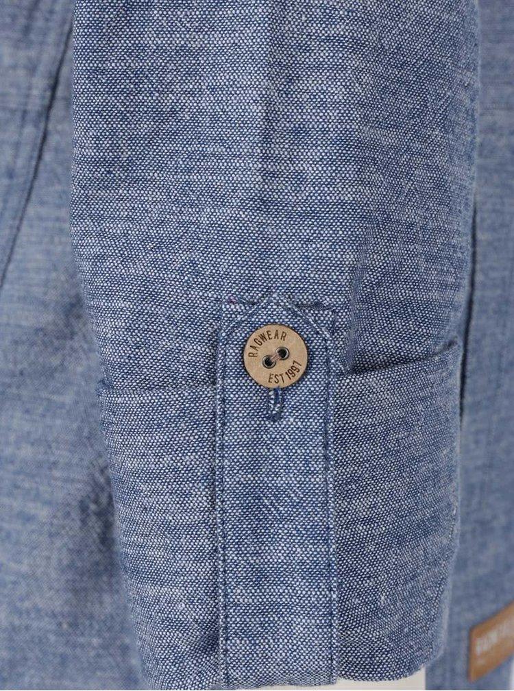 Jachetă albastră Ragwear Roxana din bumbac cu glugă