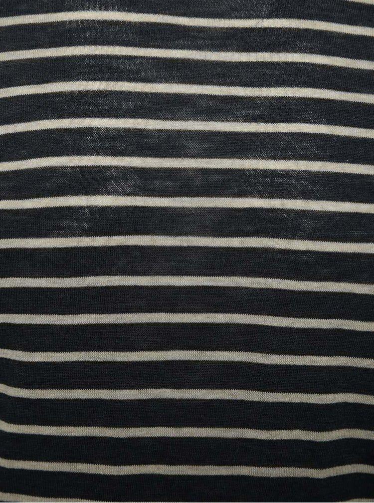Tmavě modré pruhované triko Selected Homme Emmet
