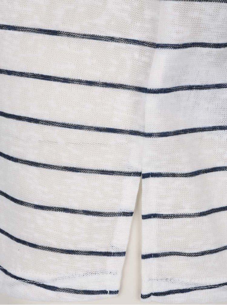Modro-bílé pruhované tričko se zavazováním na zádech Only Marina