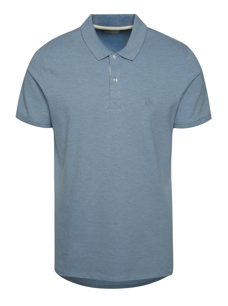 Tricou polo albastru Selected Homme Aro