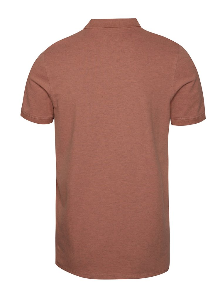 Tricou polo roz inchis Selected Homme Aro