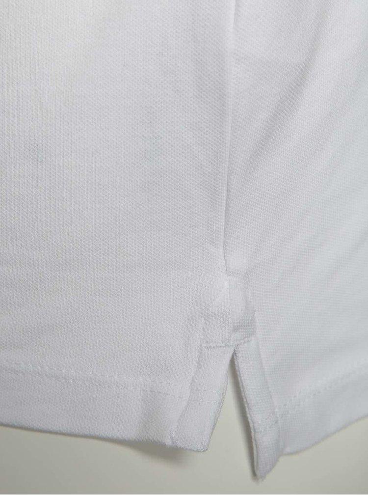 Bílé triko s knoflíky Selected Homme Maze
